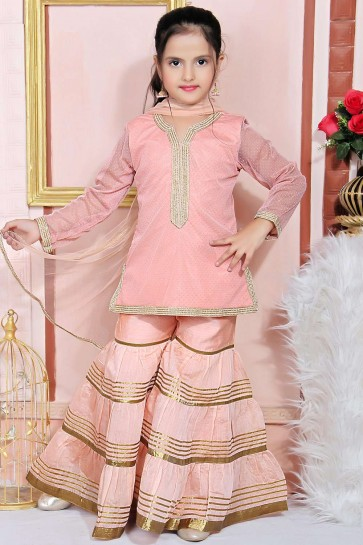 Filet Rose Clair Salwar Kameez