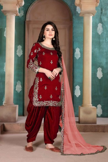 costume art marron soie Patiala