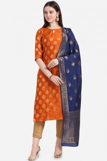 tissage d'orange jaquard salwar kameez