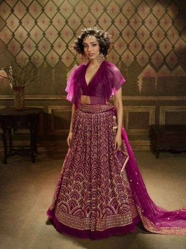 vin rose soft net lehenga choli