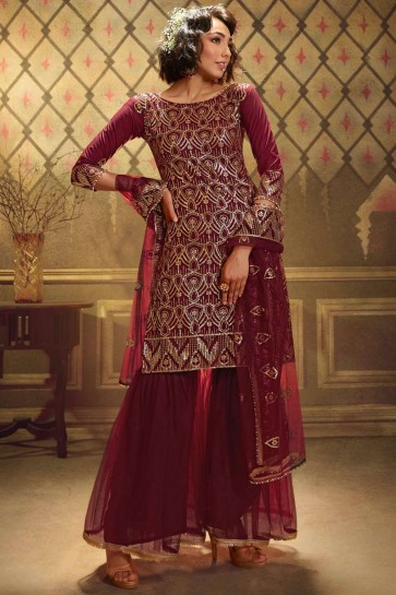 Costume Sharara Marron Doux Net
