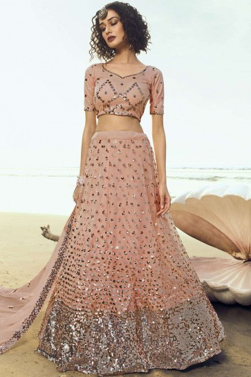 Pêche Soft Net Party Wear Lehenga Choli