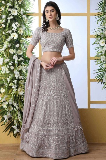 georgette lehenga choli gris clair